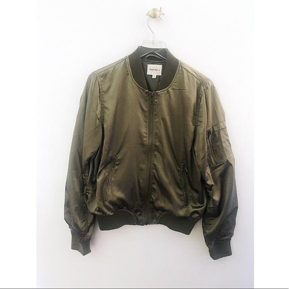 3bd01b622 cotton candy la / green shiny bomber jacket